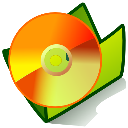 Download free orange green folder disk cd icon