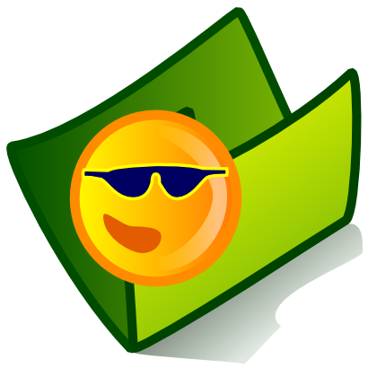 Download free green sun folder lunette icon