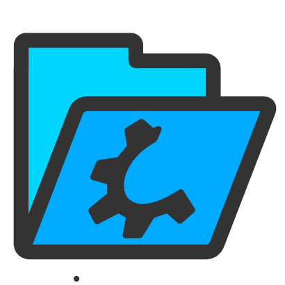 Download free wheel blue folder icon