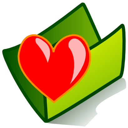Download free heart red green folder icon