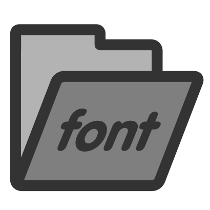 Download free font text grey folder icon