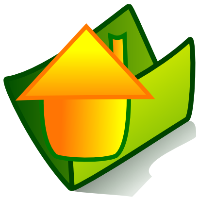 Download free orange green folder house icon
