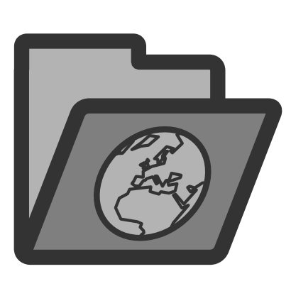 Download free earth grey folder planet icon