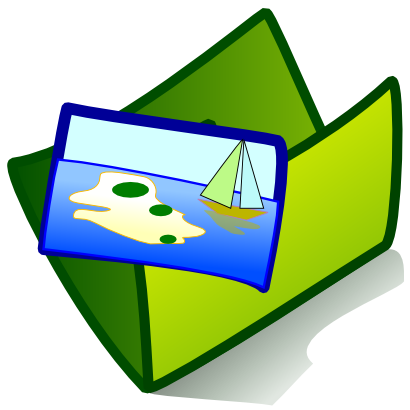 Download free green folder wind wave sea icon