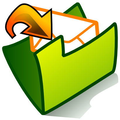 Download free orange arrow green folder courier icon