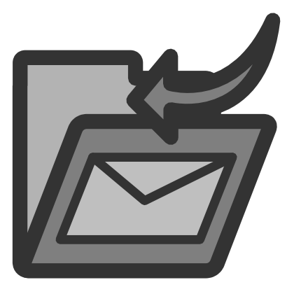 Download free grey arrow folder courier icon
