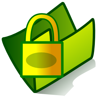 Download free padlock green folder icon
