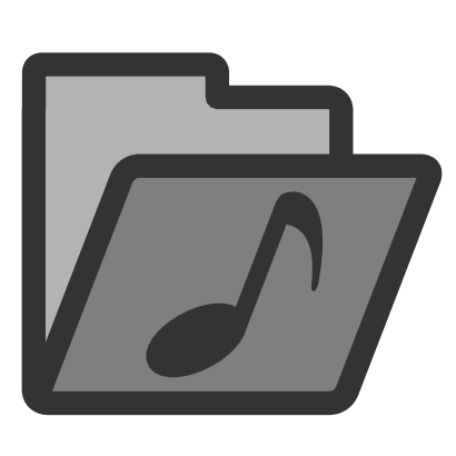 Download free music note grey folder icon