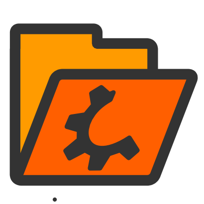 Download free orange wheel folder icon
