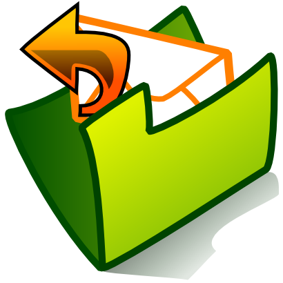 Download free arrow green folder courier icon