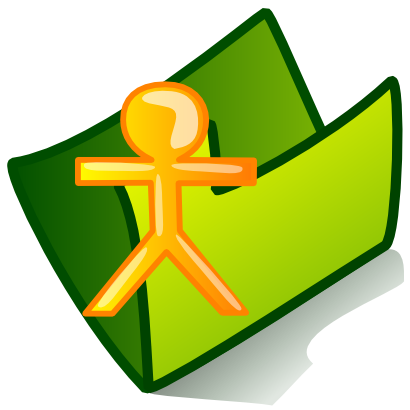 Download free green folder person icon