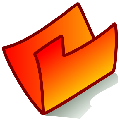 Download free orange folder icon