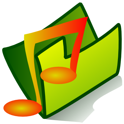 Download free music green folder icon