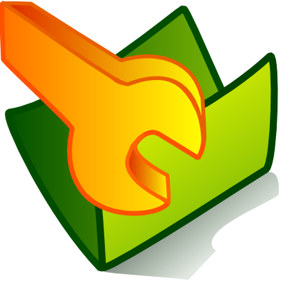 Download free orange green folder tool icon