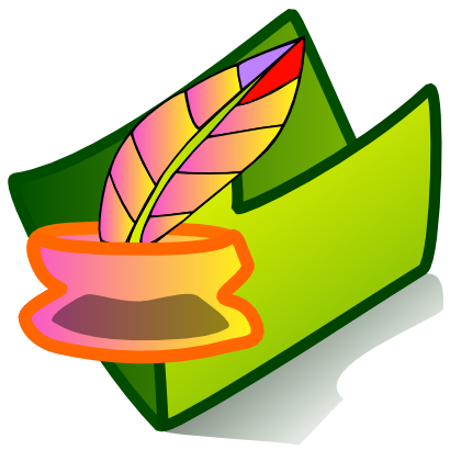 Download free green feather folder icon