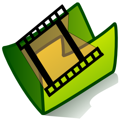 Download free video green folder movie icon