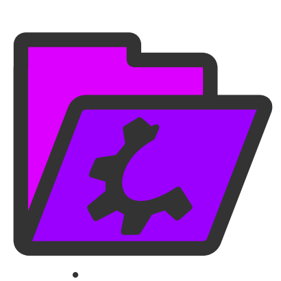 Download free wheel violet folder icon