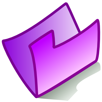 Download free violet folder icon