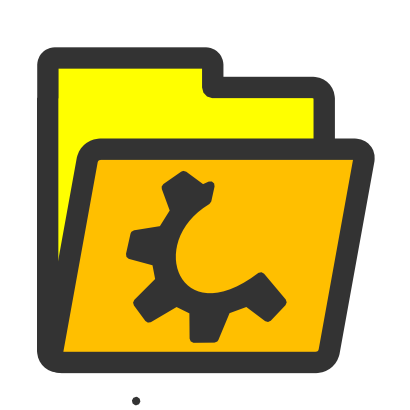 Download free yellow wheel folder icon