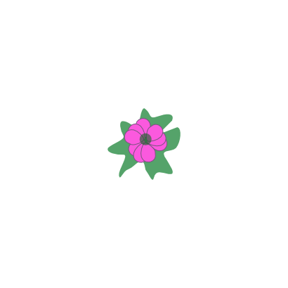 Download free sheet green pink flower icon