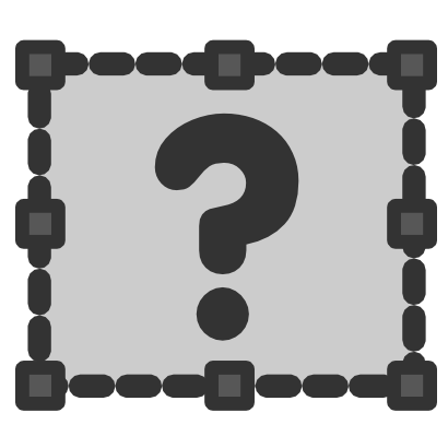 Download free grey dot interrogation rectangle icon