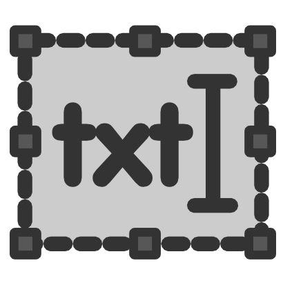 Download free text grey rectangle icon