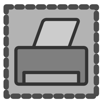 Download free grey printer icon
