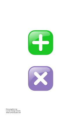 Download free green violet button mathematical more icon