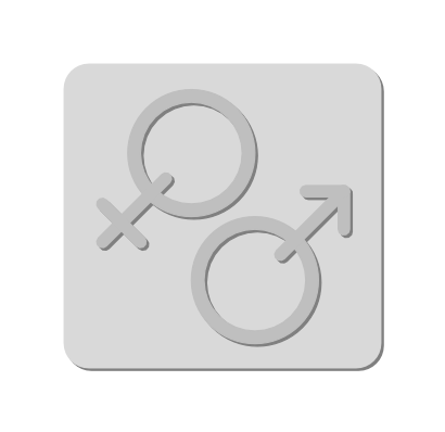 Download free grey symbol square human girl woman boy icon