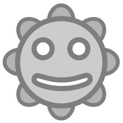 Download free grey face sun smiley icon
