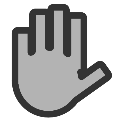 Download free grey hand stop icon