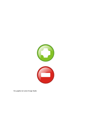 Download free red round green more less icon