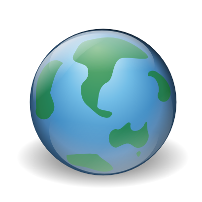 Download free internet earth ocean continent planet icon