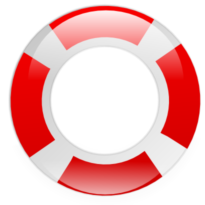 Download free red round white icon