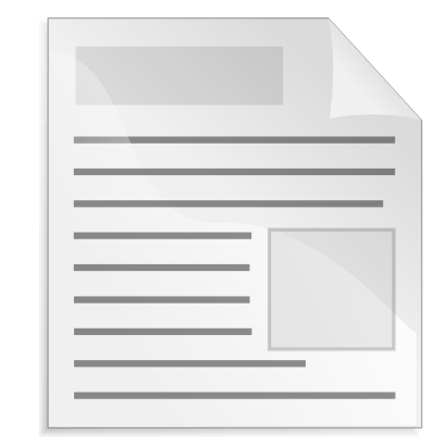 Download free sheet paper line icon