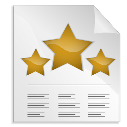 Download free yellow sheet paper star icon