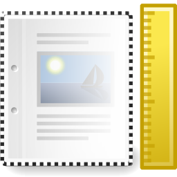 Download free office sheet rule document icon