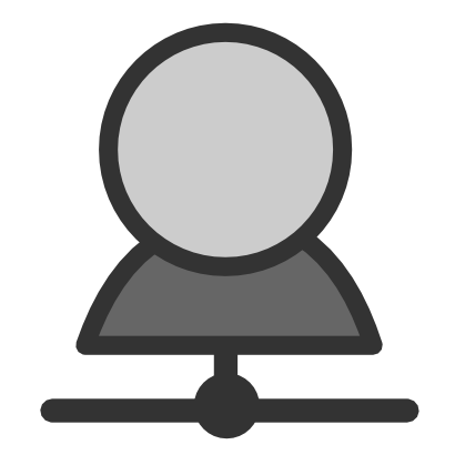 Download free grey round person icon