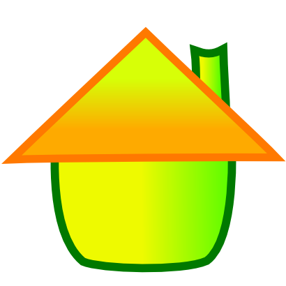 Download free orange green house icon