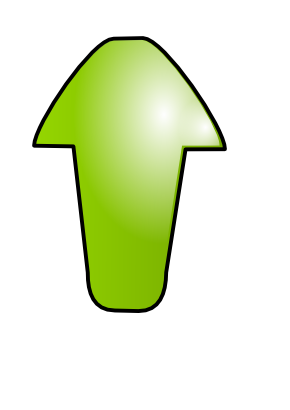 Download free arrow green top icon