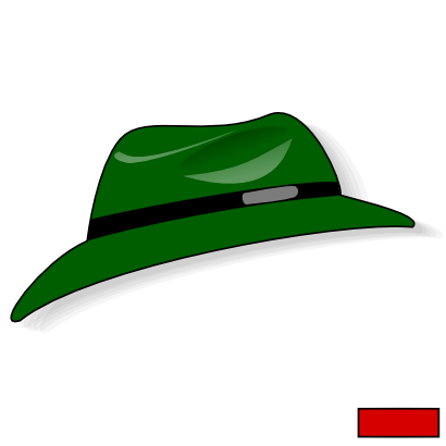 Download free green hat clothing icon