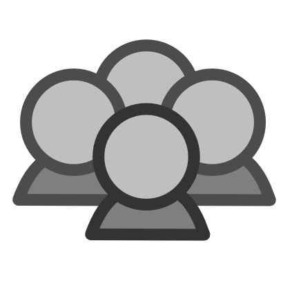 Download free grey round network person icon