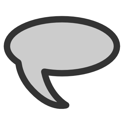 Download free grey speech icon