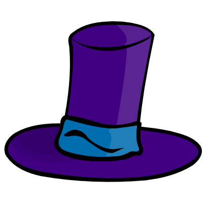 Download free violet hat clothing icon