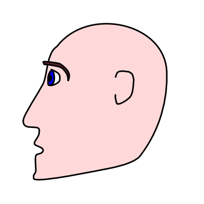Download free head face bald human icon