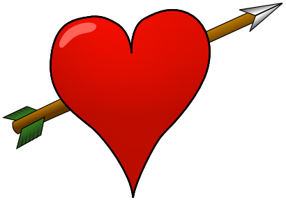 Download free heart red arrow icon