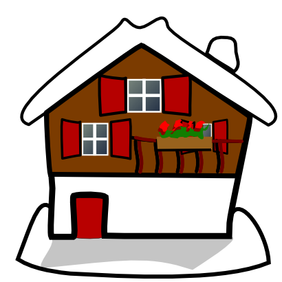 Download free snow house christmas icon