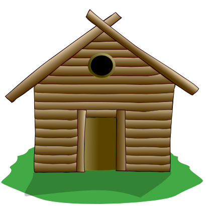 Download free house wood hut icon