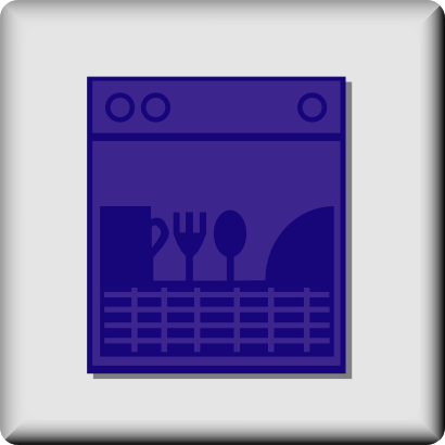 Download free covered dishwasher plate fork cup cooking icon