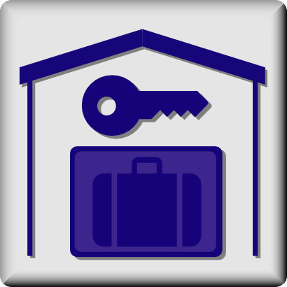 Download free key house suitcase icon
